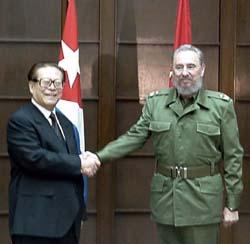 Jiang Zemin e Fidel Castro