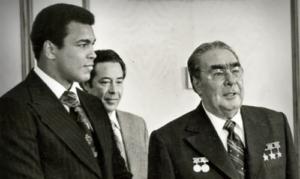 Mohamed Ali in Unione Sovietica con Leonid Brezhnev