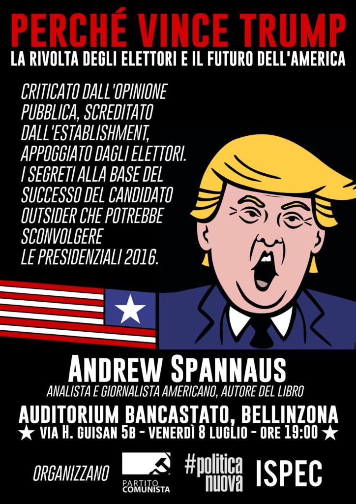 La prima presentazione svizzera del libro sarà a Bellinzona organizzata dal Partito Comunista