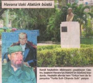 Fidel Castro onora Mustafa Kemal Atatürk