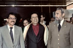 Zimbabwe, 1986: Ortega, Gheddafi e Castro. Tre leader della sinistra anti-imperialista.