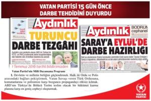Il quotidiano Aydinlik aveva previsto il golpe filo-americano