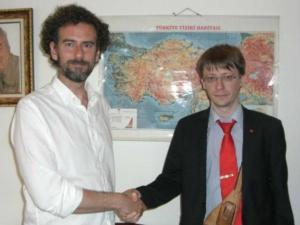 Yunus Soner con Massimiliano Ay