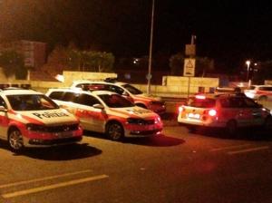 Imponente dispiegamento di Polizia all'ultima serata della 69esima edizione del Festival del Film di Locarno.