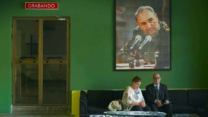 "Jean Ziegler, in una scena de ""l'optimisme de la volonté"", accanto alla moglie Erica"