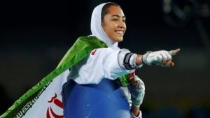 L'atleta iraniana Kimia Alizadeh Zenoorin