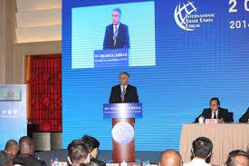 George Mavrikos, segretario della Federazione Sindacale Mondiale parla a Pechino