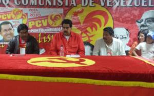 Il presidente Maduro ospite del Partito Comunista Venezuelano