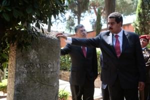 Maduro visita rende omaggio ad Antonio Gramsci a Roma