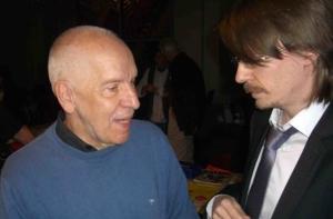 Carolus Wimmer, responsabile esteri del PCV a colloquio con Massimiliano Ay, del PC svizzero.