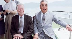 L'ex-presidente USA Jimmy Carter visita Kim Il Sung
