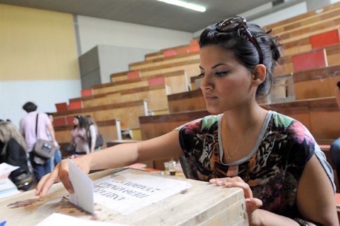student votes in Greece 1