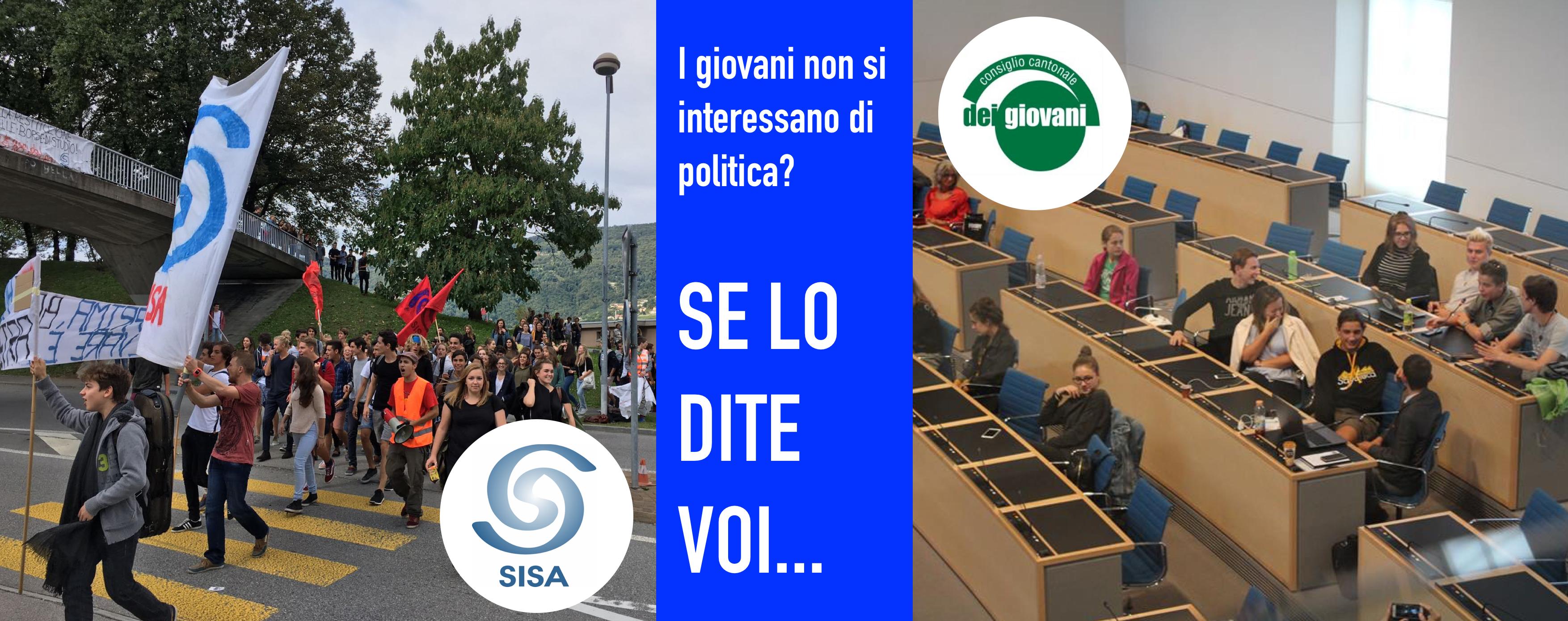 Il banner con cui il SISA risponde al CCG