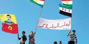 La bandiera dei ribelli siriani