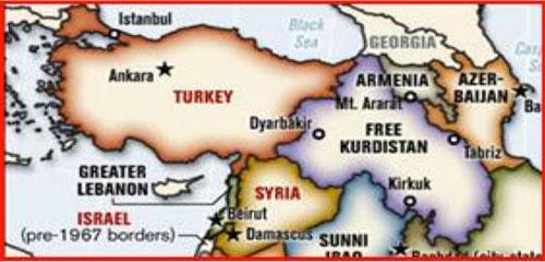 La Turchia divisa secondo i progetti del Pentagono