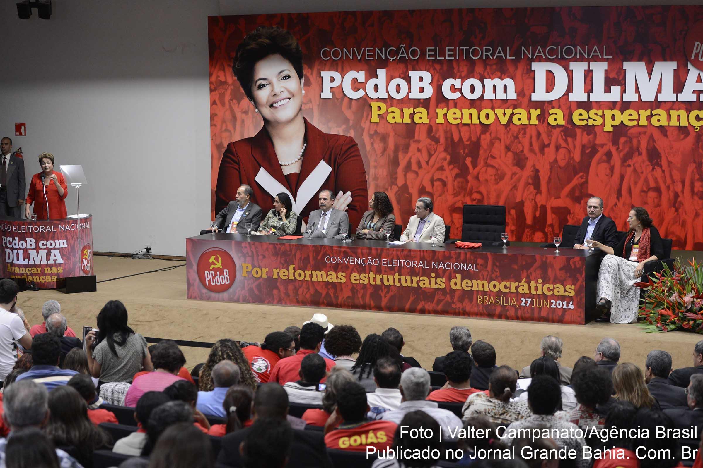 Dilma con gli alleati del Partito Comunista del Brasile (PCdoB)