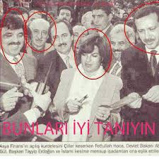 La fondazione dell'Asya Bank. Si notano oltre a Gülen, l'allora prima ministra Tansu Ciller, il futuro ministro degli esteri Abdullah Gül e Erdogan