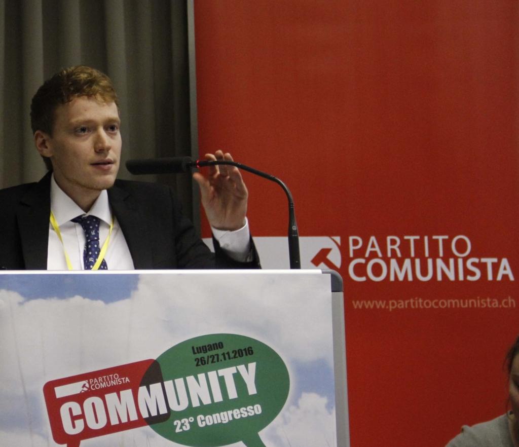 Alessandro Lucchini dirige la politica economica del Partito Comunista
